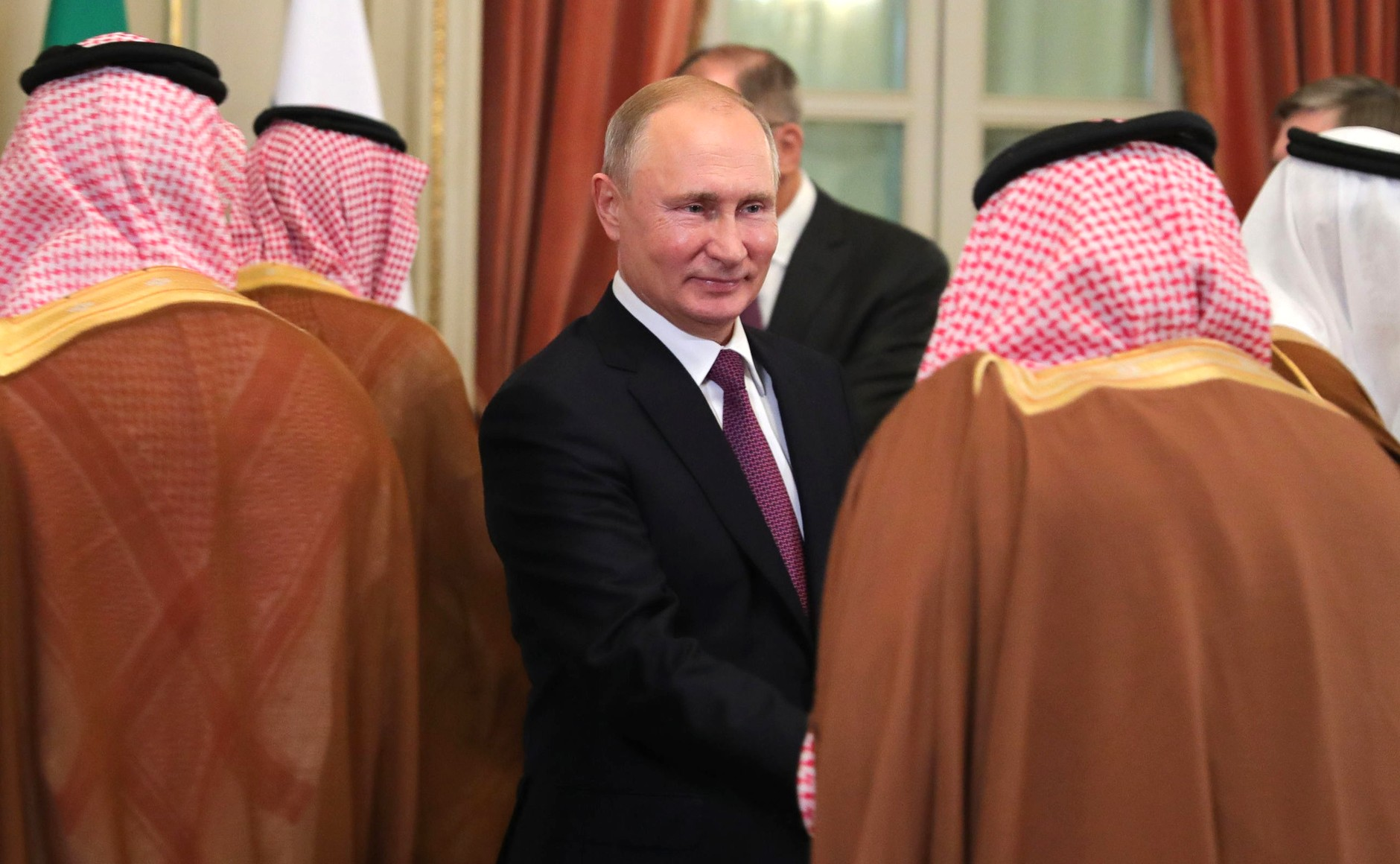 Russian President Vladimir Putin before a meeting with Saudi leaders, Dec. 1, 2018. (Kremlin)
