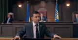 "Zelensky, in 2016 episode of Ukrainian TV comedy ""Servant of the People."" (YouTube)"