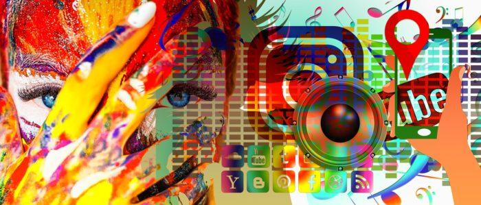 Artist's depiction of social media. (Geralt via Wikimedia Commons)