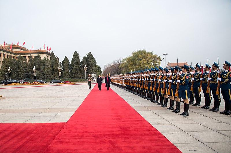 President Donald Trump visiting China in 2017. (PAS China via Wikimedia Commons)