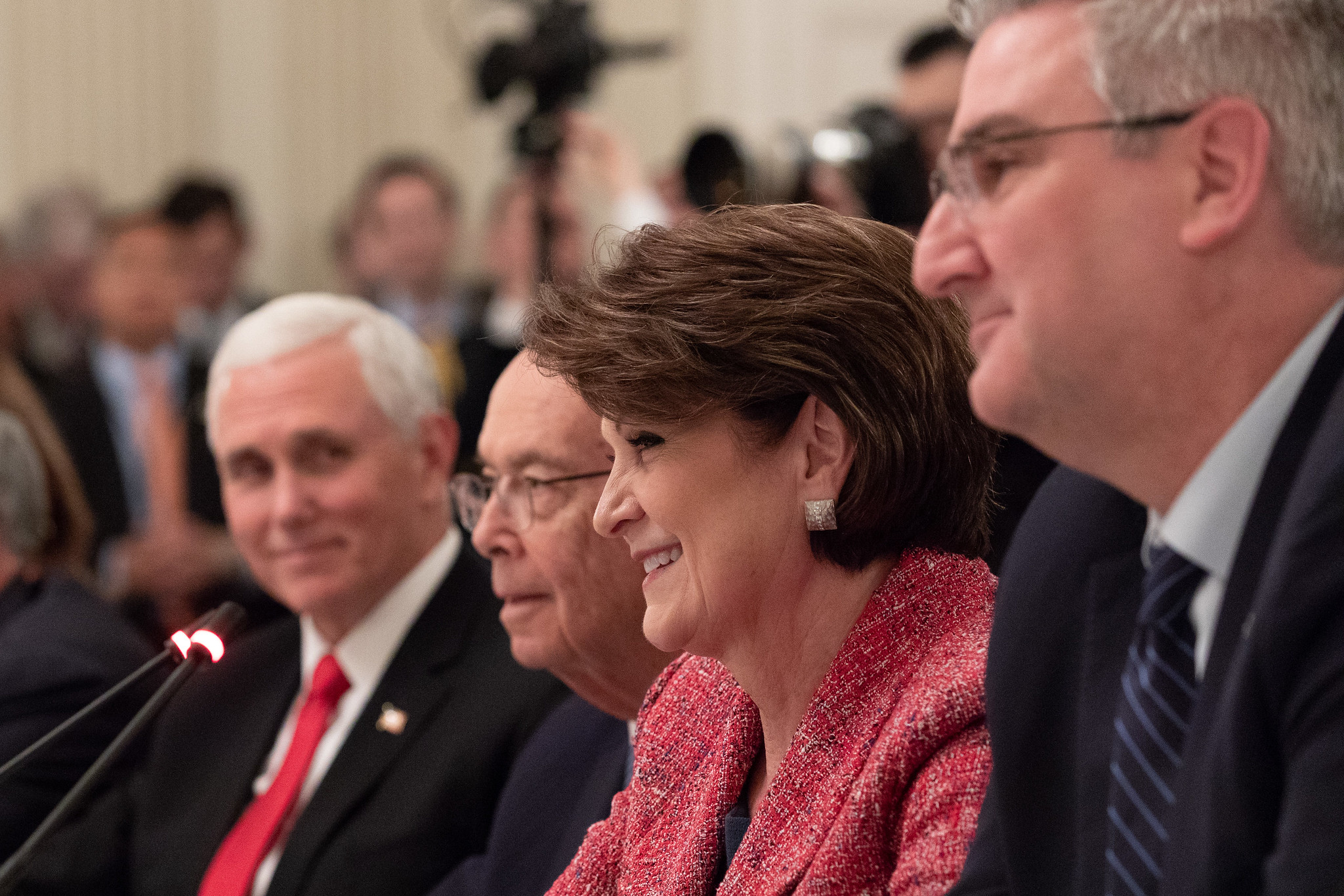 Marillyn Hewson, CEO of Lockheed Martin, at White House meeting March 6, 2019. (White House, Joyce N. Boghosian)