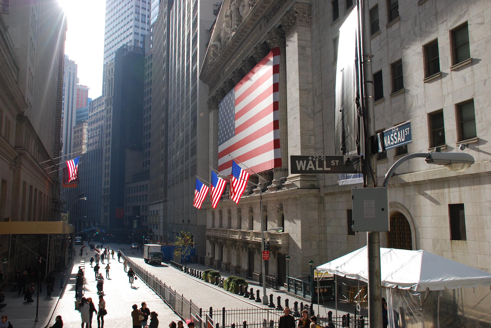 Wall Street, Nov. 21, 2009. (Dave Center, Flickr)