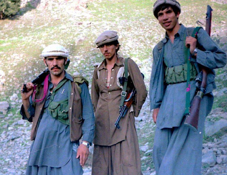 Mujahideen who fought Soviets, Aug. 1985 (Wikimedia Commons)