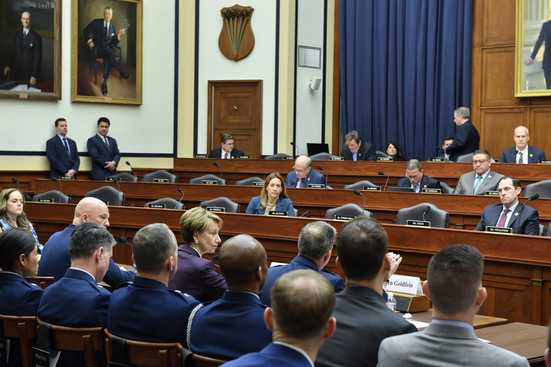 A meeting of the House Armed Services Committee in March. (U.S. Air Force/Wayne Clark)