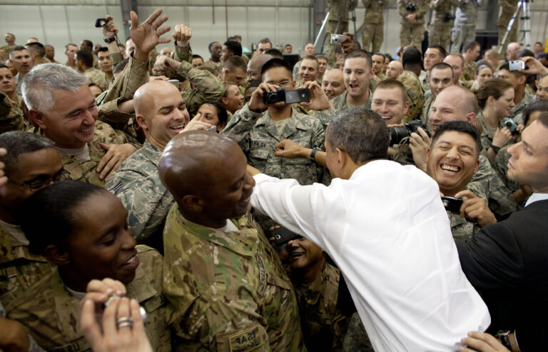 Obama at Bagram Air Field, Afghanistan, May 1, 2012. (Official White House Photo by Pete Souza)