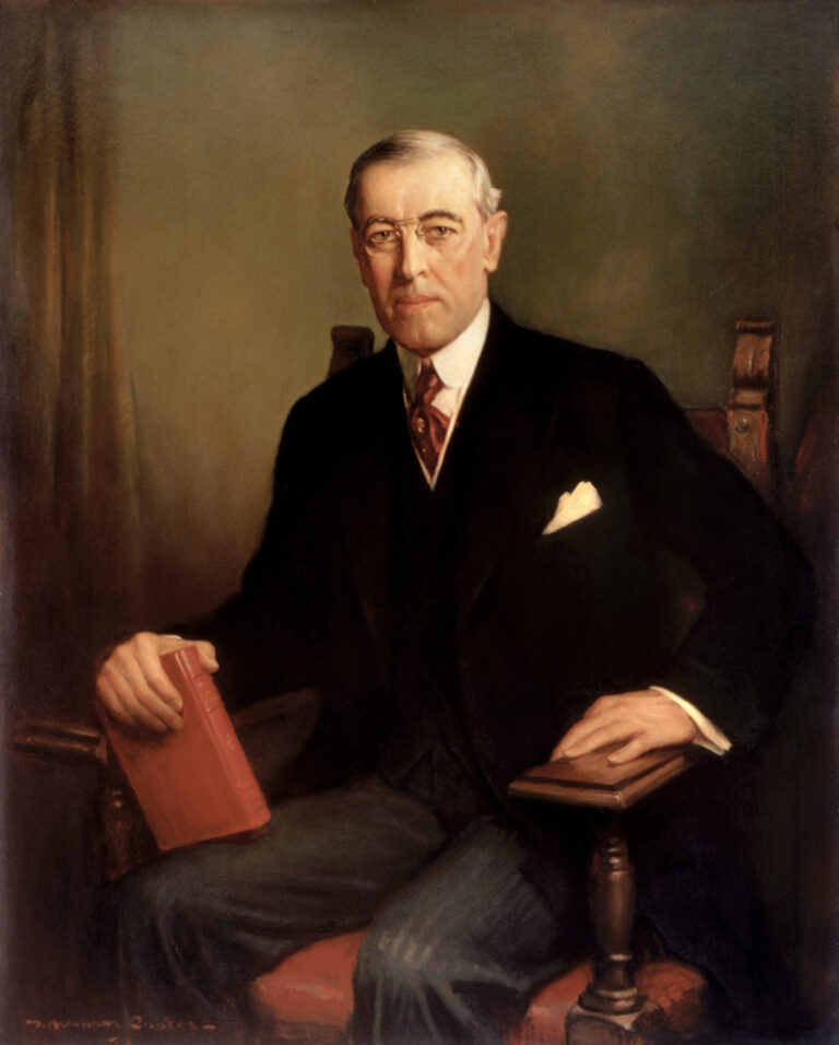 Official presidential portrait of Woodrow Wilson, 1913, by Frank Graham Cootes. (Wikimedia Commons)