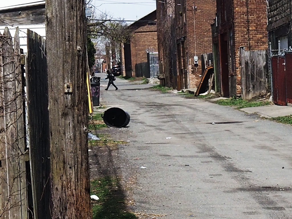 Back street of Troy, New York, where the author delivered this article as a lecture. Photo taken April 2020. (Ricky Shore, Flickr, CC BY 2.0)