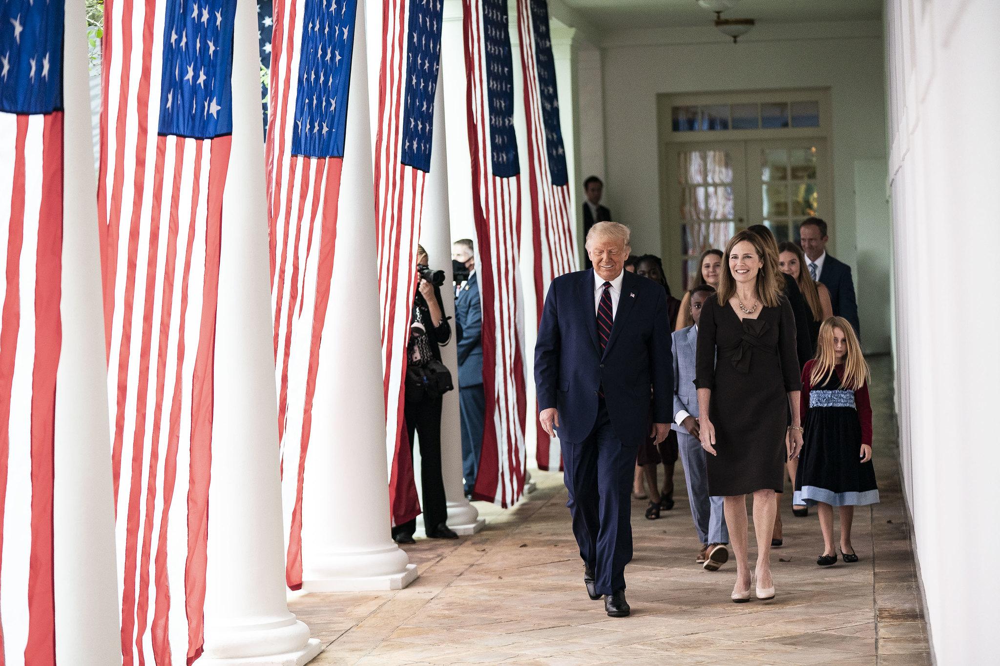 President Donald Trump and Judge Amy Coney Barrett, the president's Supreme Court nominee, Sept. 26, 2020. (White House, Shealah Craighead)