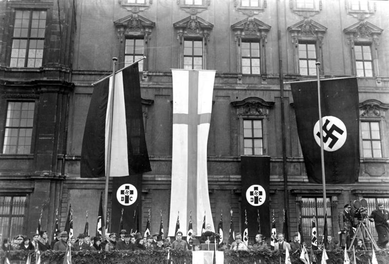 German Christians celebrating Luther-Day in Berlin in 1933. (CC-BY-SA 3.0, Wikimedia Commons)